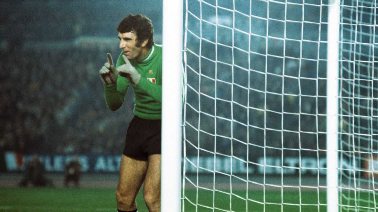 Juventus' Dino Zoff against Borussia Moenchengladbach