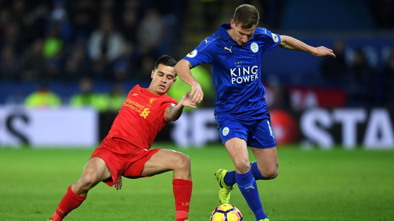 Marc Albrighton and Philippe Coutinho