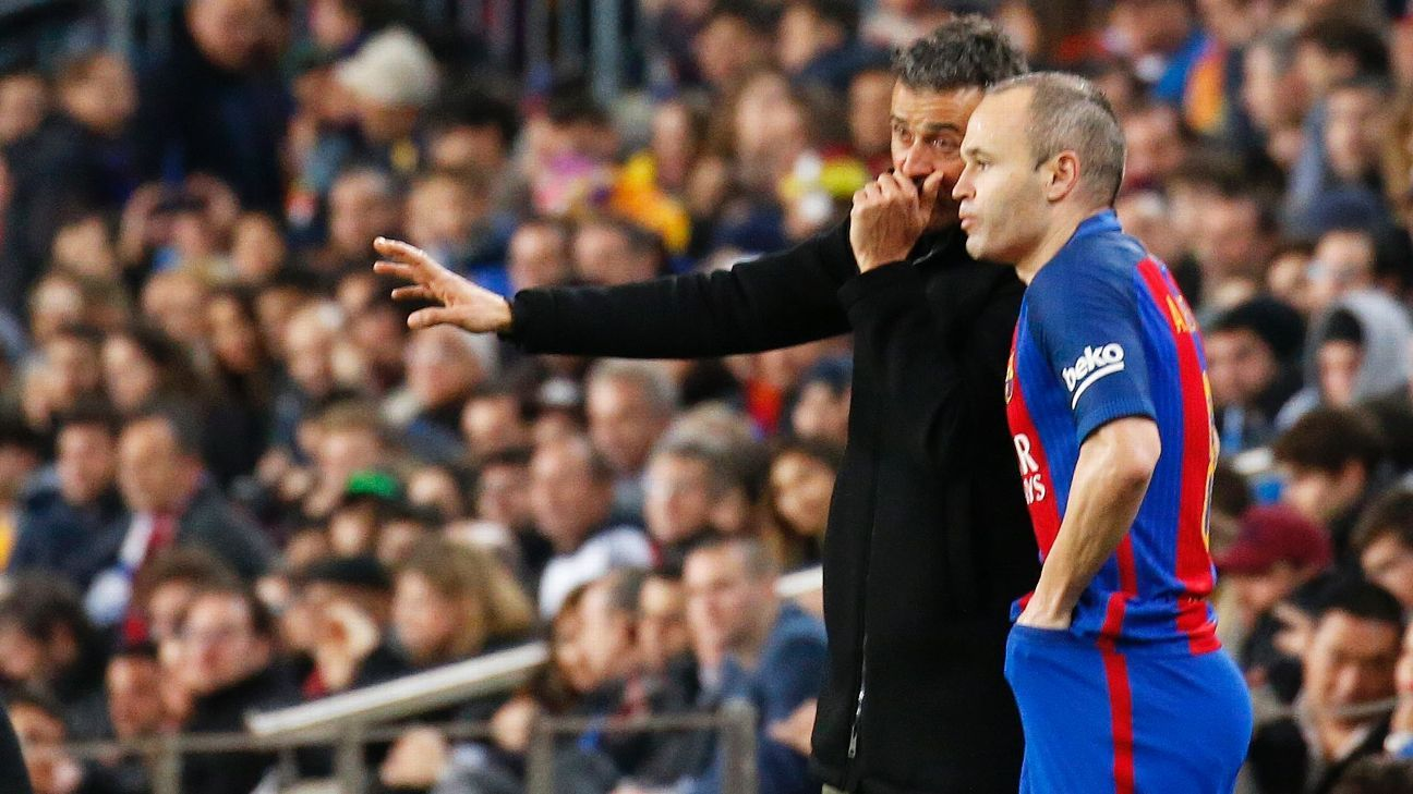 Iniesta and Luis Enrique