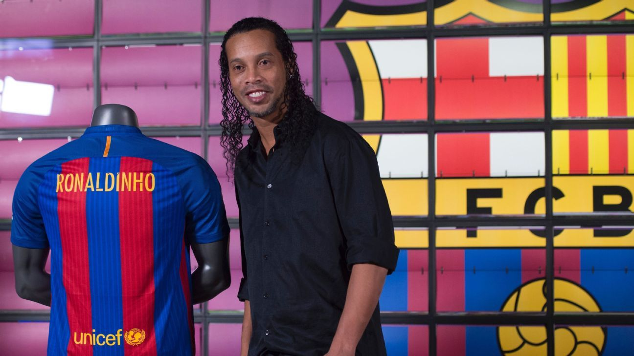 Ronaldinho could feature for Barcelona in their upcoming legends matches.