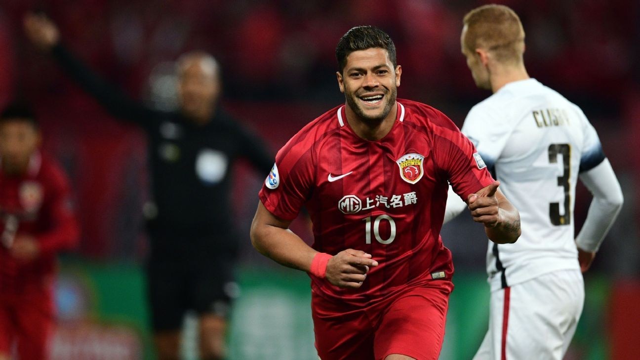 Hulk celebrates his goal for SIPG v Western Sydney