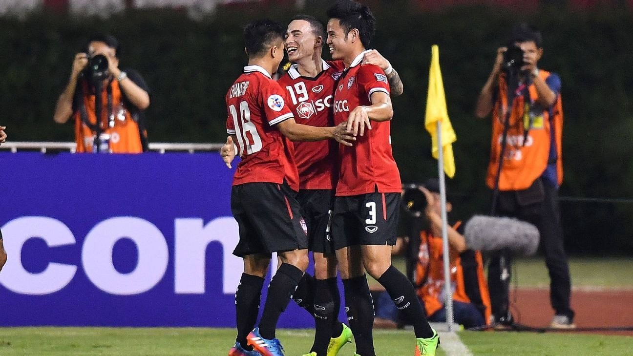 Muang Thong celebrate ACL win over Kashima