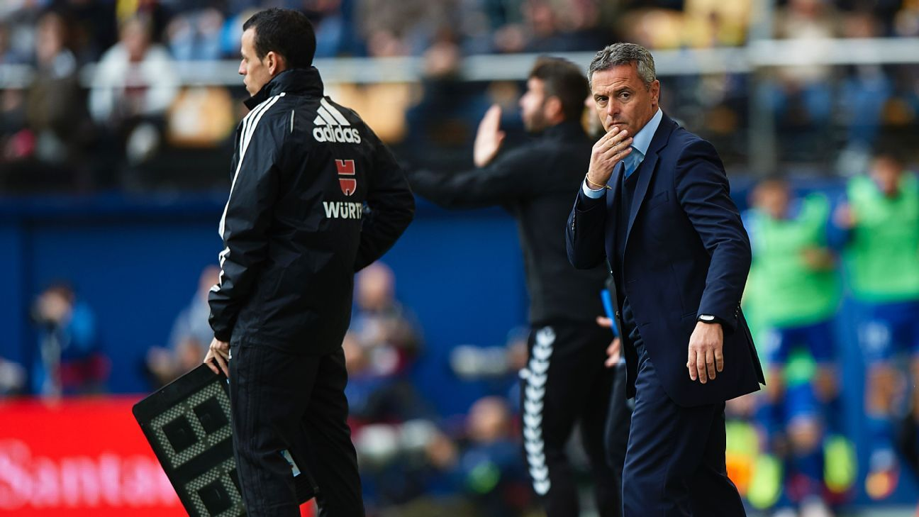 Villarreal coach Fran Escriba