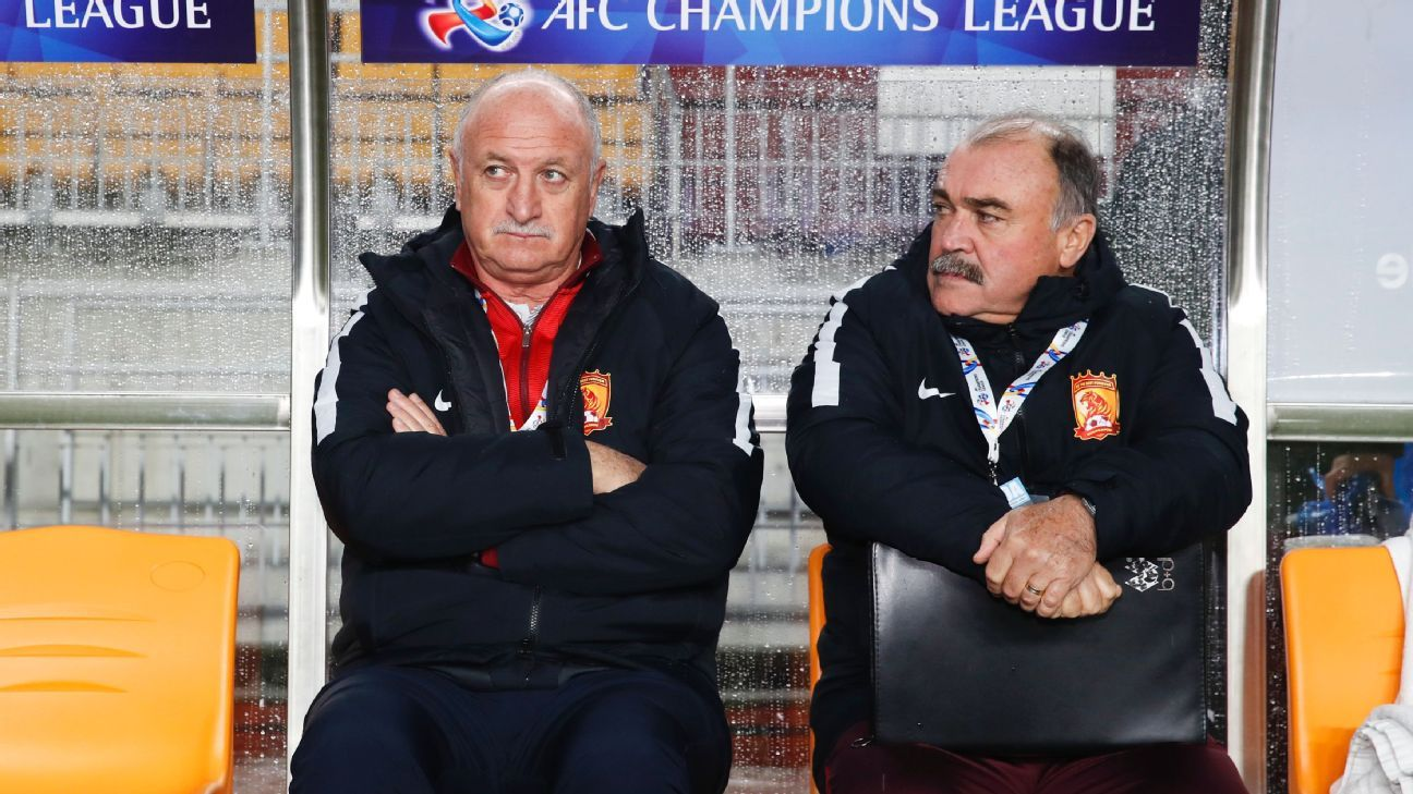 Luiz Felipe Scolari, head coach of Guangzhou Evergrande