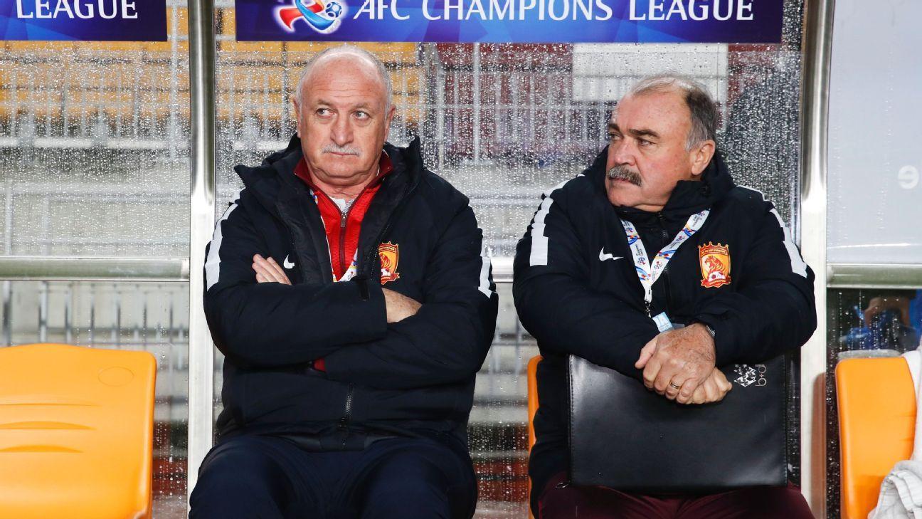 Luiz Felipe Scolari, head coach of Guangzhou Evergrande