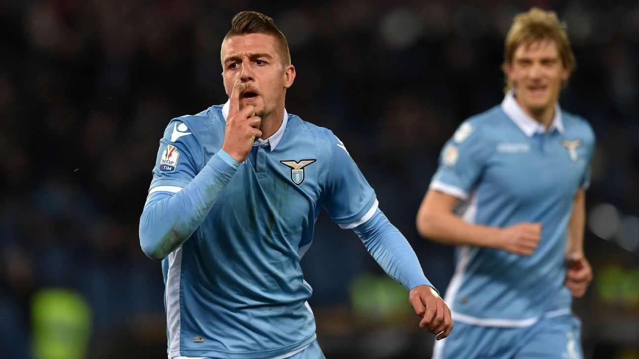 Sergej Milinkovic-Savic helped Lazio beat Roma for the first time since the 2013 Coppa Italia final.