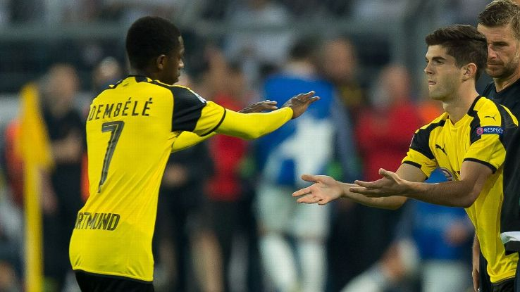 Ousmane Dembele and Christian Pulisic were both the subject of interest from Liverpool.