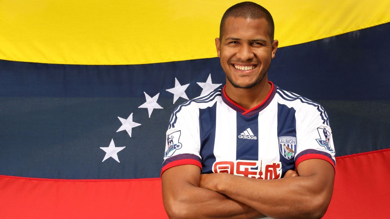 Venezuela and West Brom striker Salomon Rondon