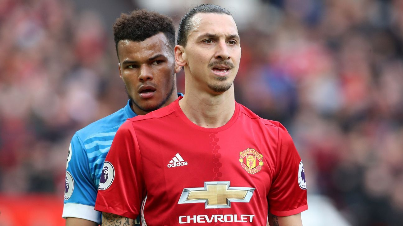 Tyrone Mings and Zlatan Ibrahimovic