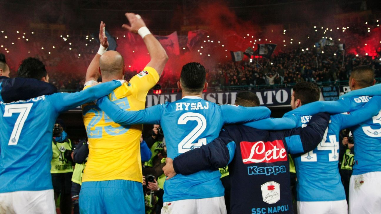Napoli celeb fans San Paolo