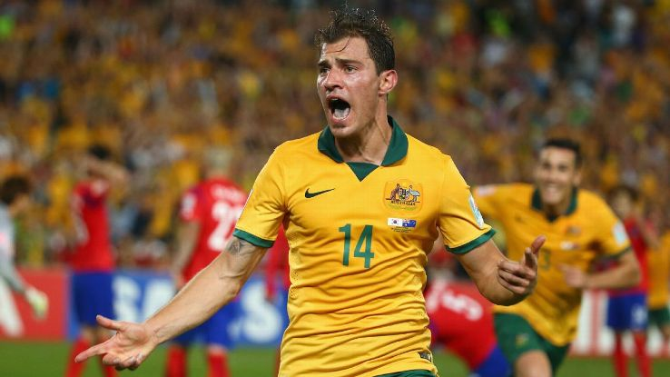 Australia midfielder James Troisi