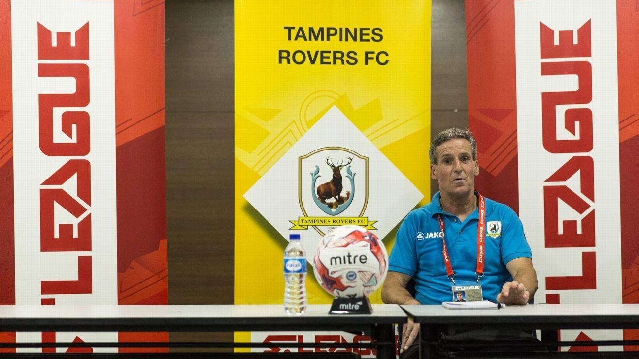 Tampines coach Jurgen Raab