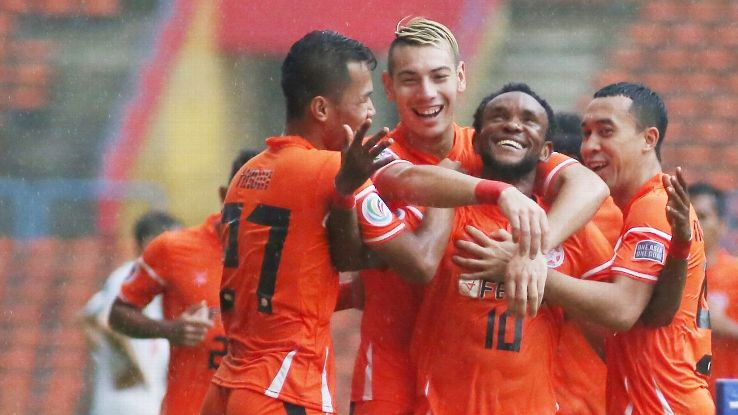 Felda United celebrate in 2017 AFC Cup