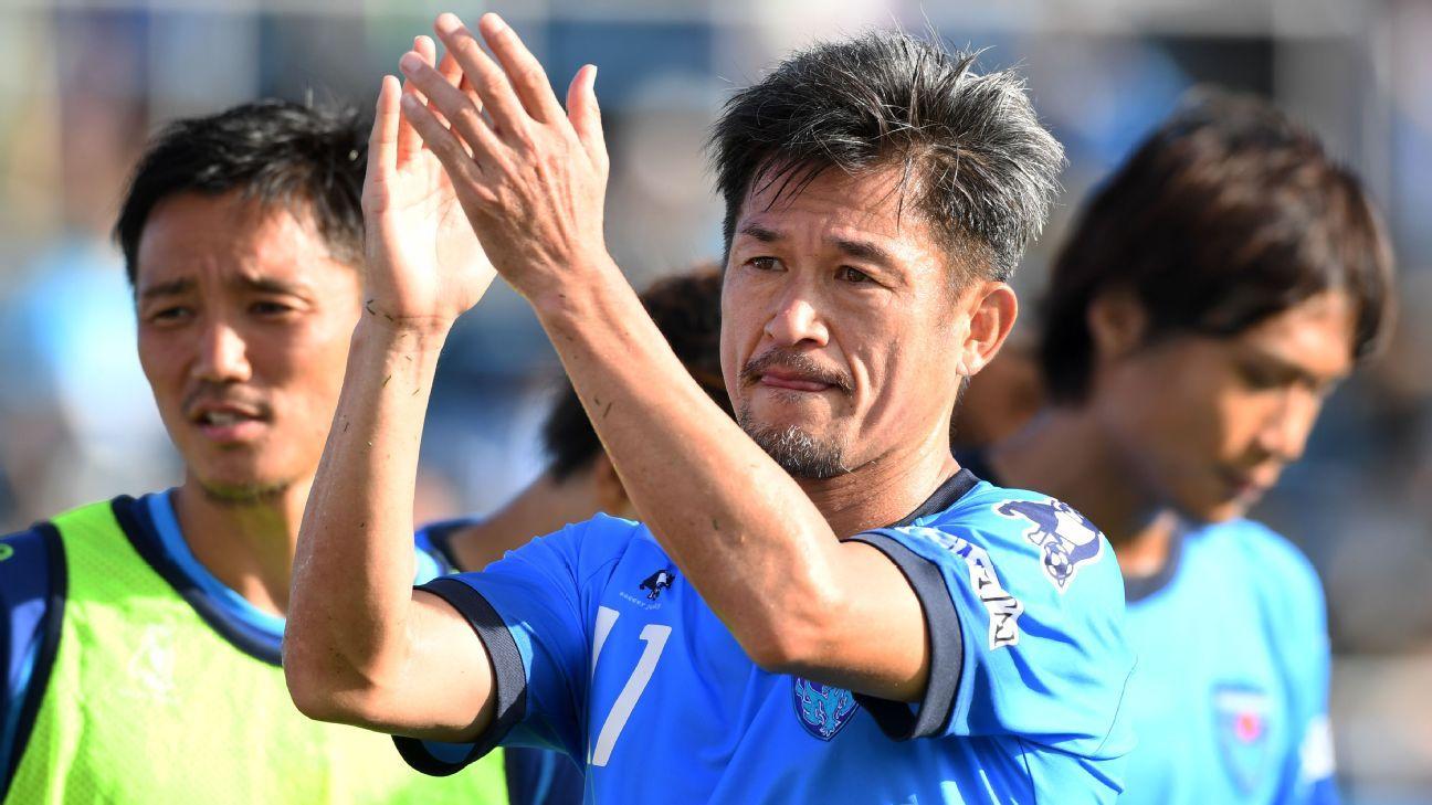 Yokohama striker Kazuyoshi Miura