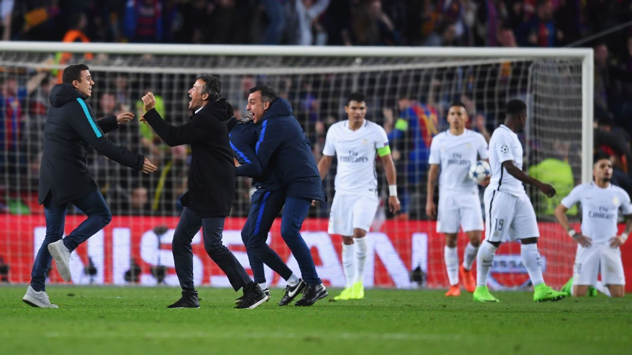 Image result for Champions League: Why PSG lost 6-1 to Barcelona