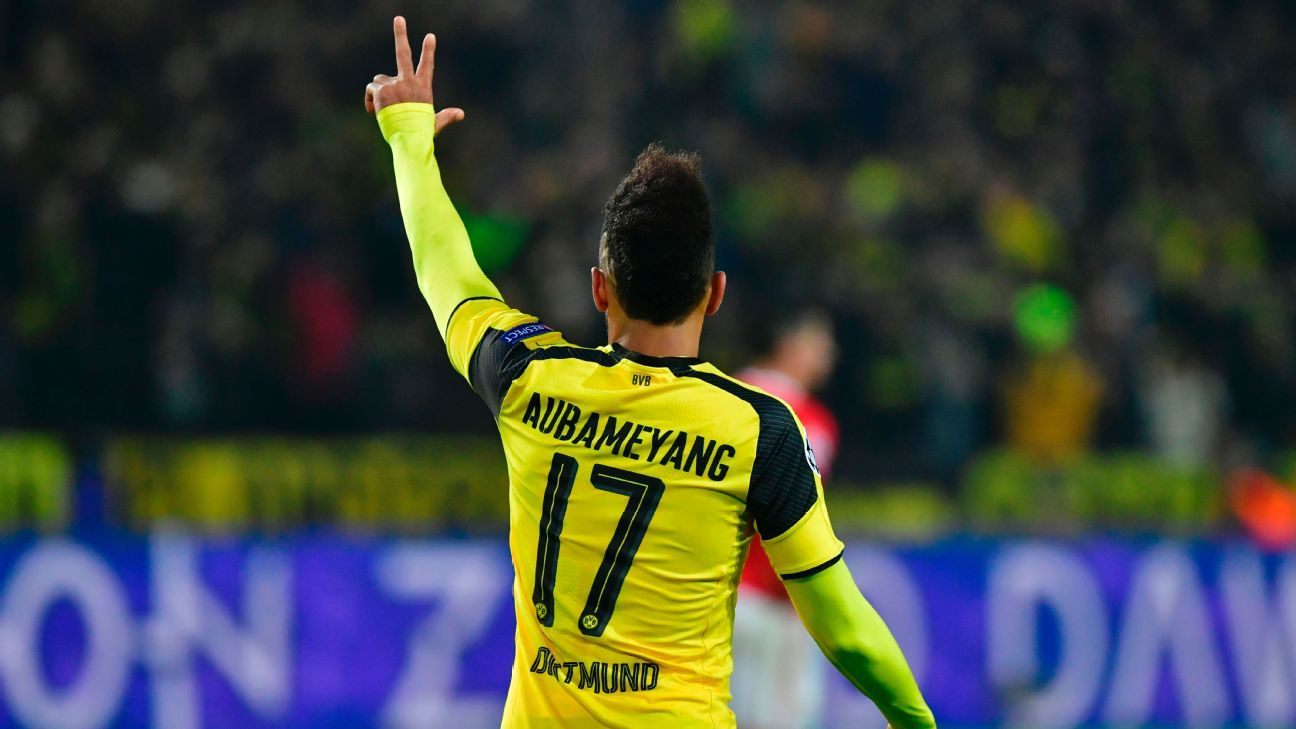 Borussia Dortmund's Pierre-Emerick Aubameyang