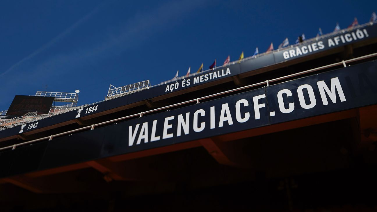 General view of the stadium prior to the La Liga game between Valencia CF and Real Betis.