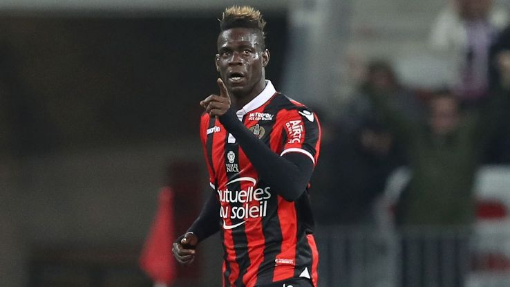 Mario Balotelli started Nice's comeback against Caen.