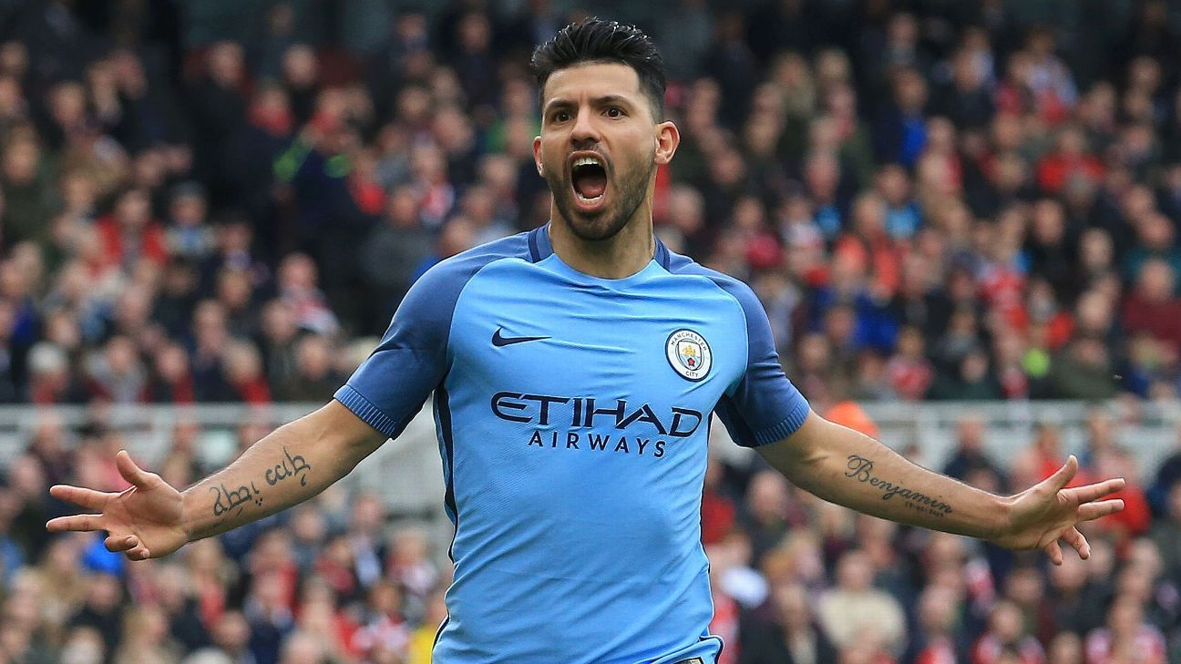 Sergio Aguero and Man City cruised into the semifinals.