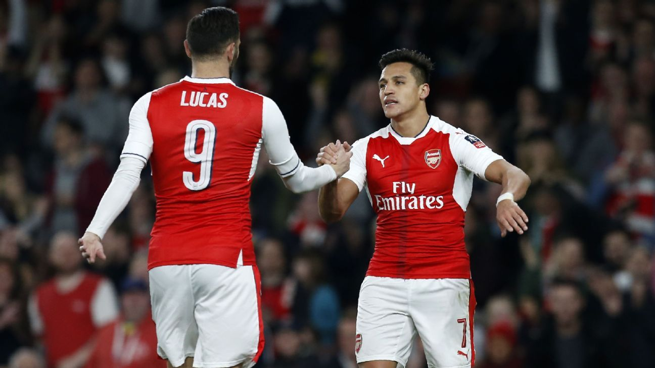 Alexis Sanchez and Lucas Perez