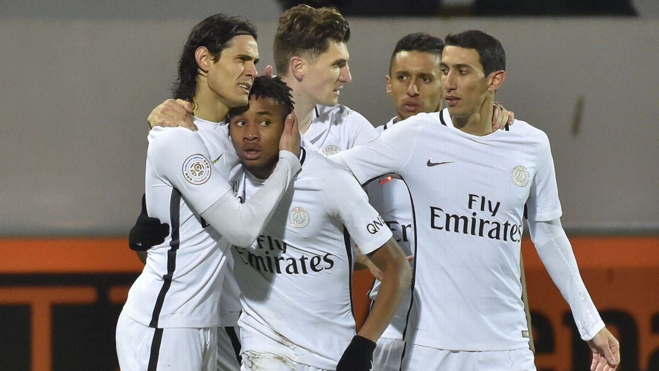 PSG celebrated a 2-1 victory versus Lorient on Sunday.