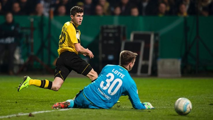 Christian Pulisic put Dortmund on their way to a semifinal berth.