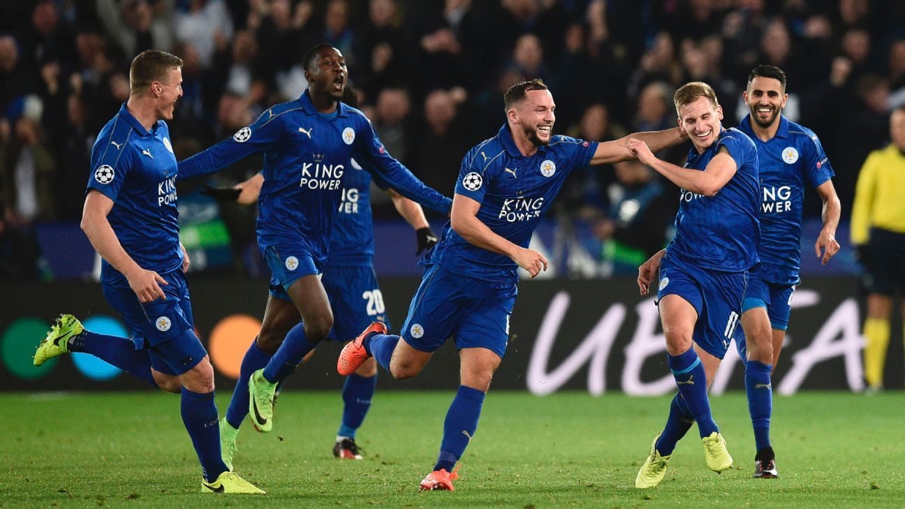 Leicester City are into the last eight of the Champions League.