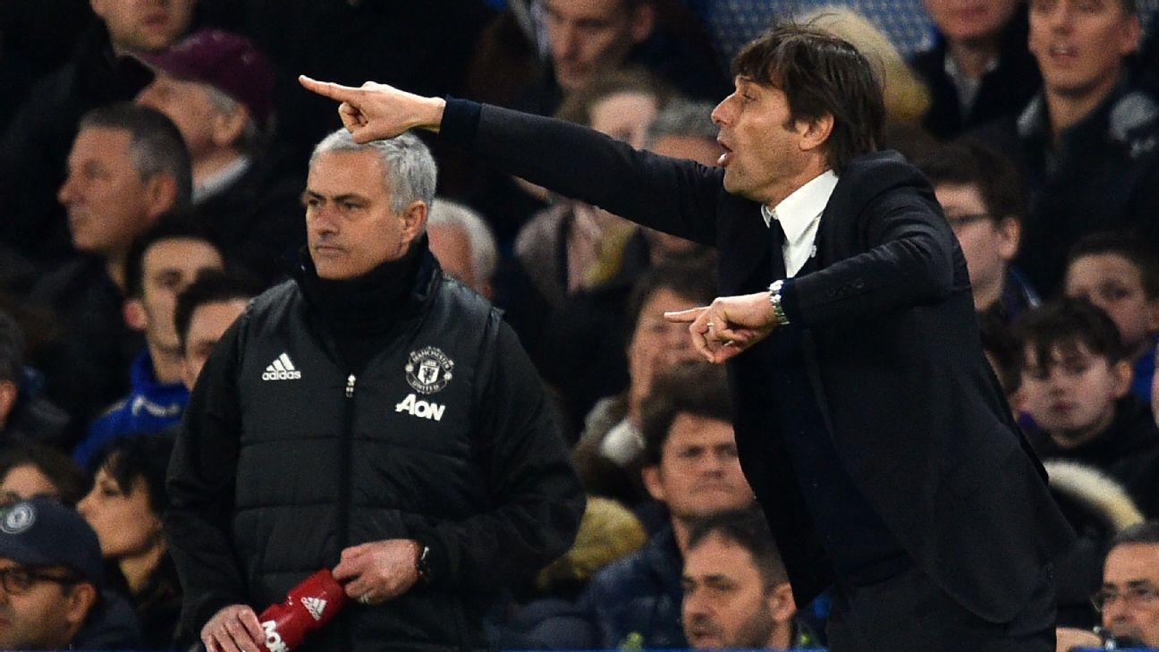 Conte Mourinho sidelines 170314