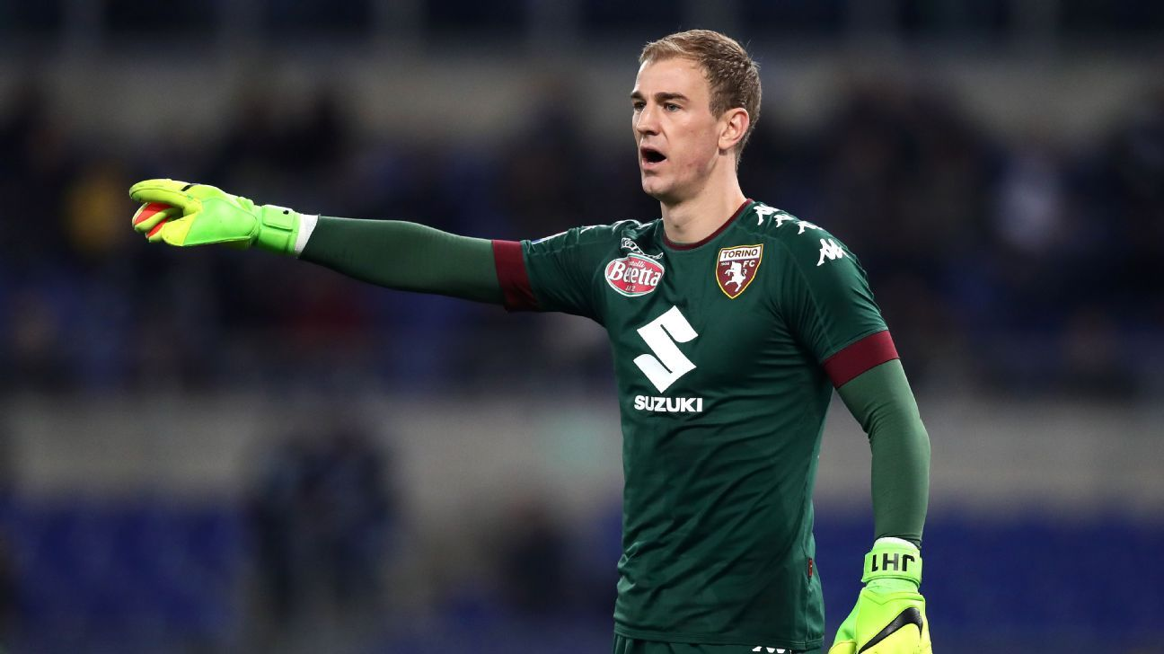 Joe Hart in action for Torino against Lazio in Serie A.