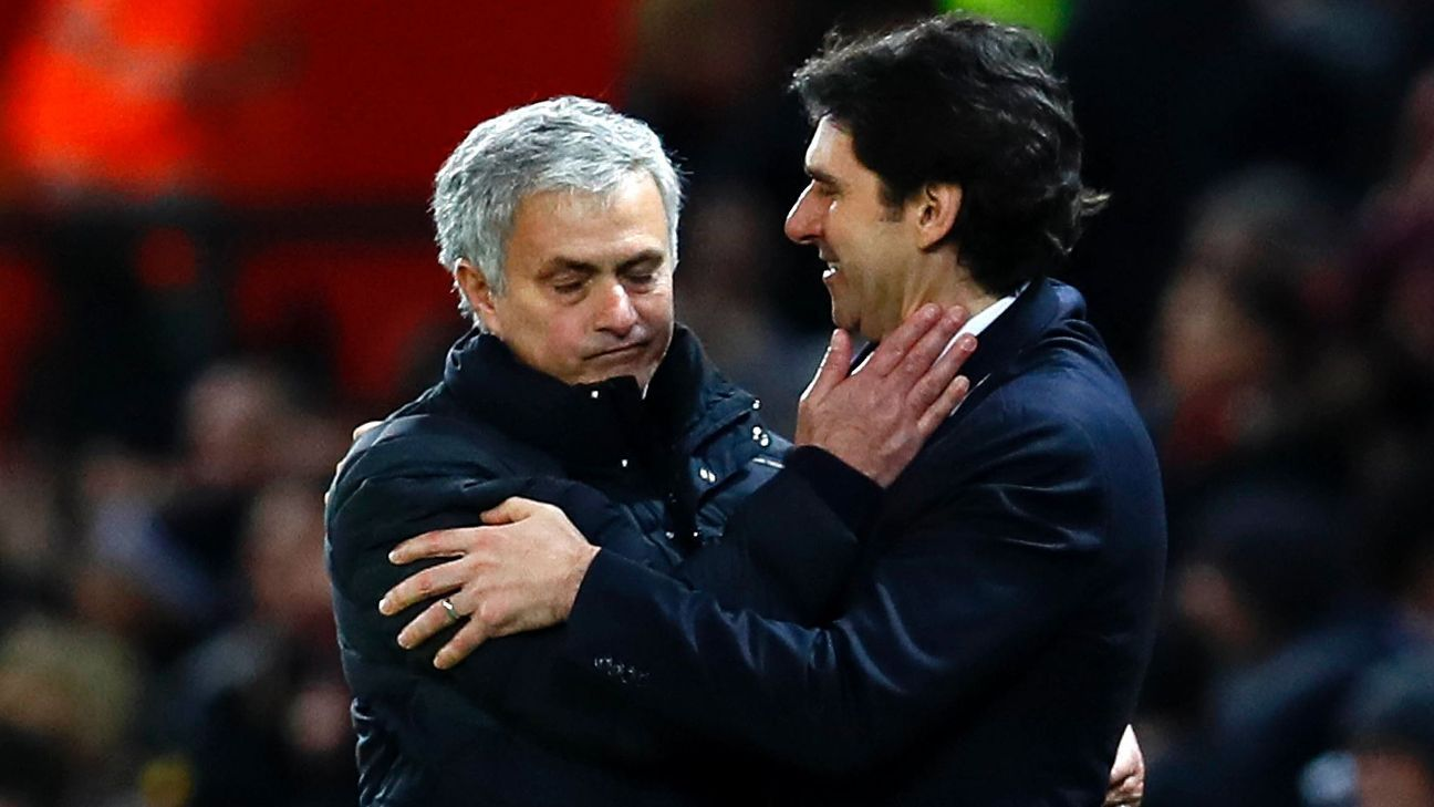 Aitor Karanka, right, learned under Jose Mourinho and leaves a lasting legacy at Middlesbrough. However, the side's lack of progress since being promoted called for a change.