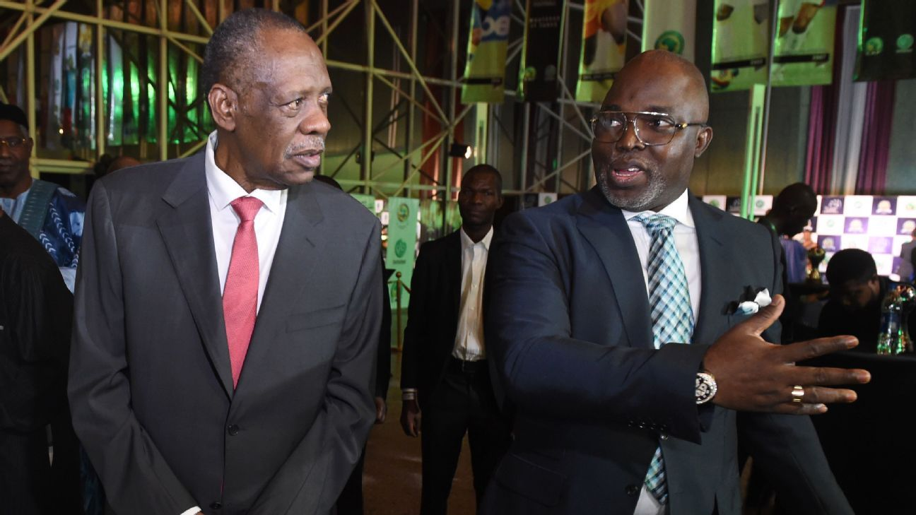 Issa Hayatou and Amaju Pinnick