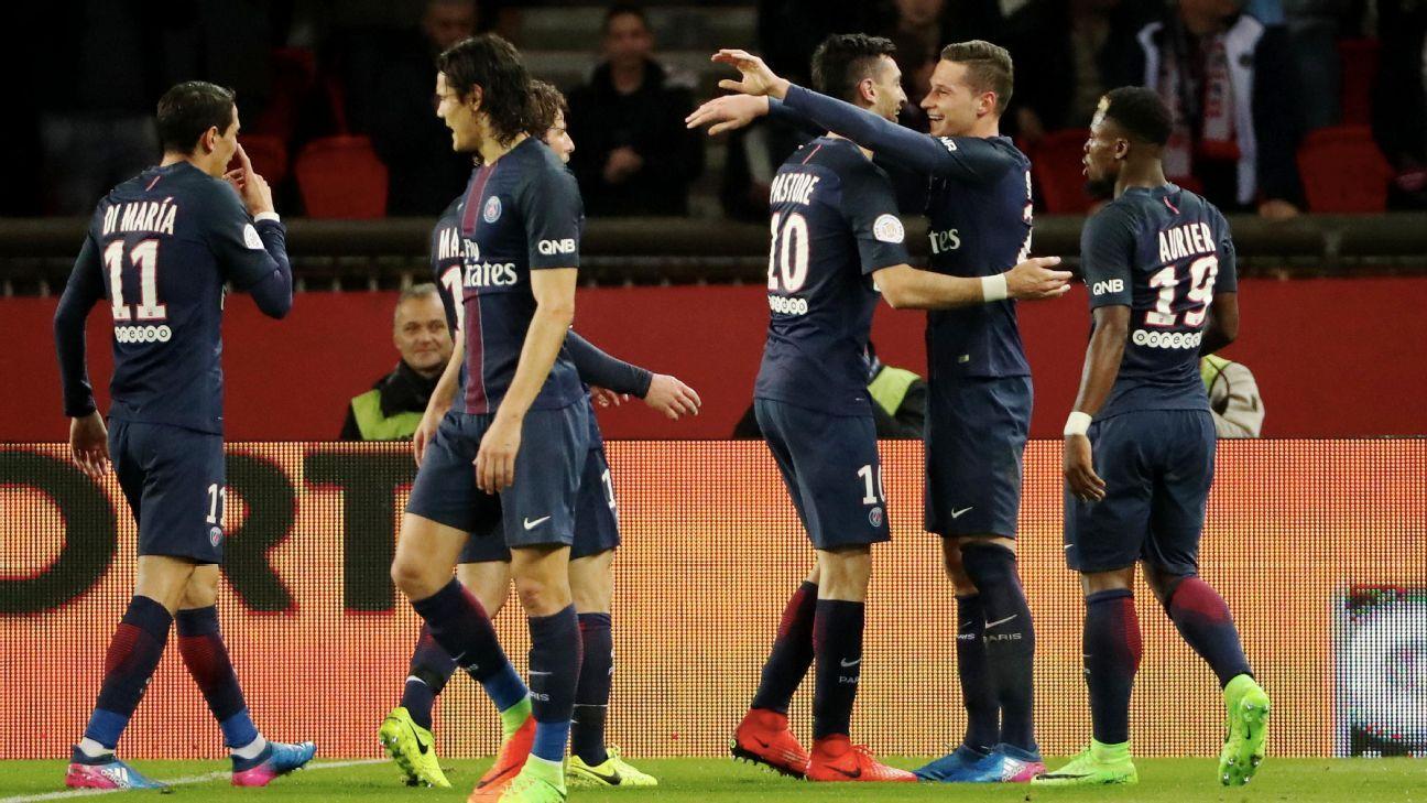Paris Saint-Germain remain three points back of Monaco.