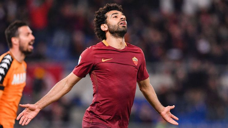 Roma ace Mohamed Salah has been heavily linked with a return to the Premier League.
