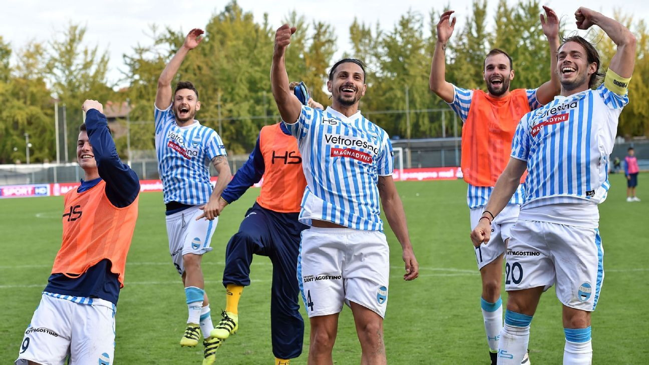 SPAL players celebrating