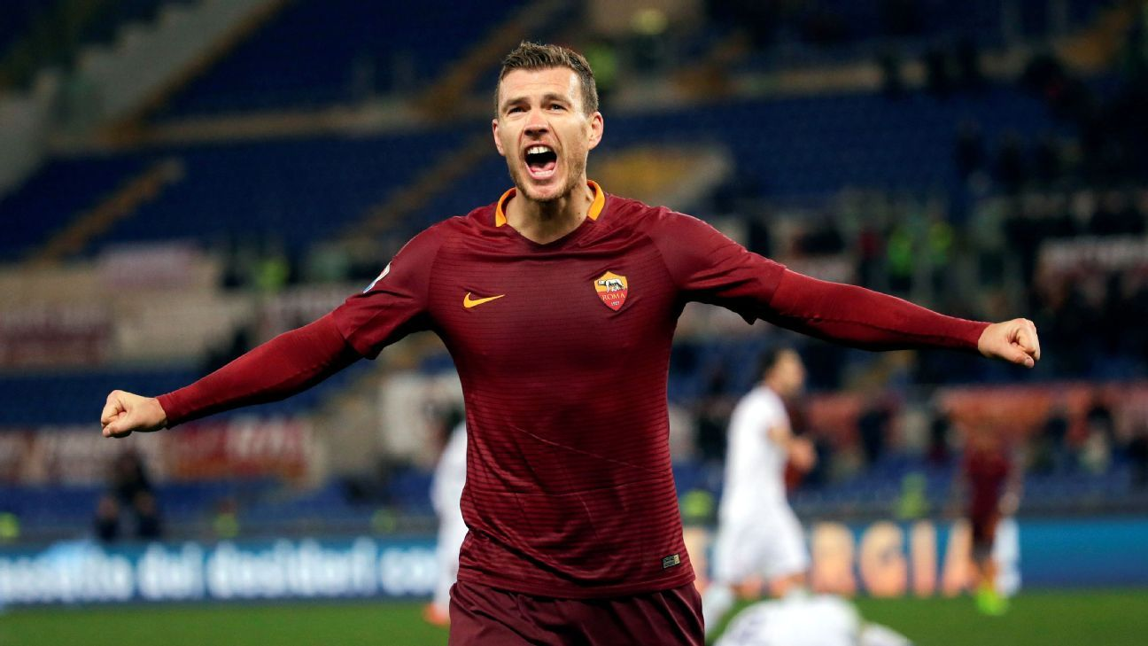 Edin Dzeko is in some of the best form of his career at Roma.