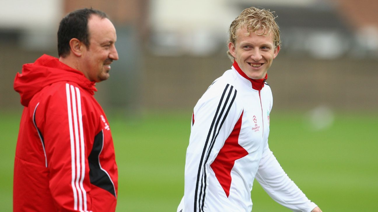 Rafa Benitez and Dirk Kuyt