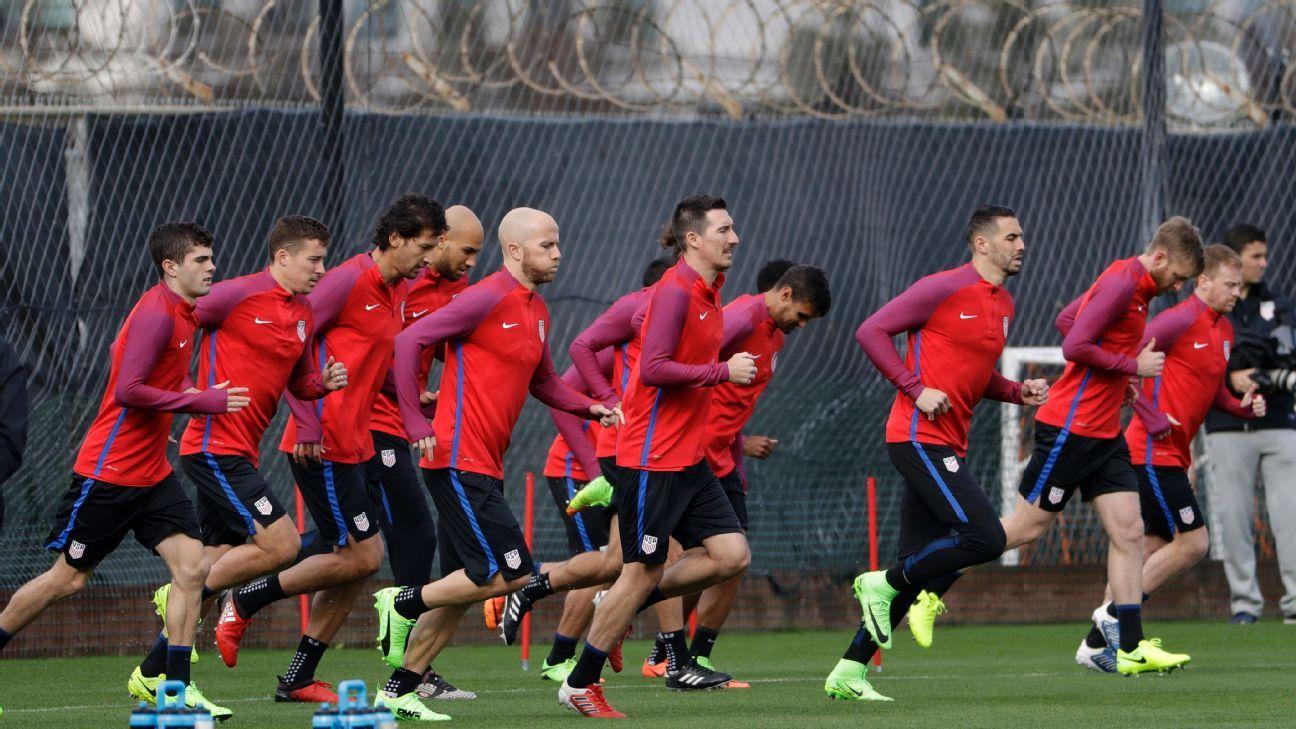 US Soccer training pre Honduras 170322