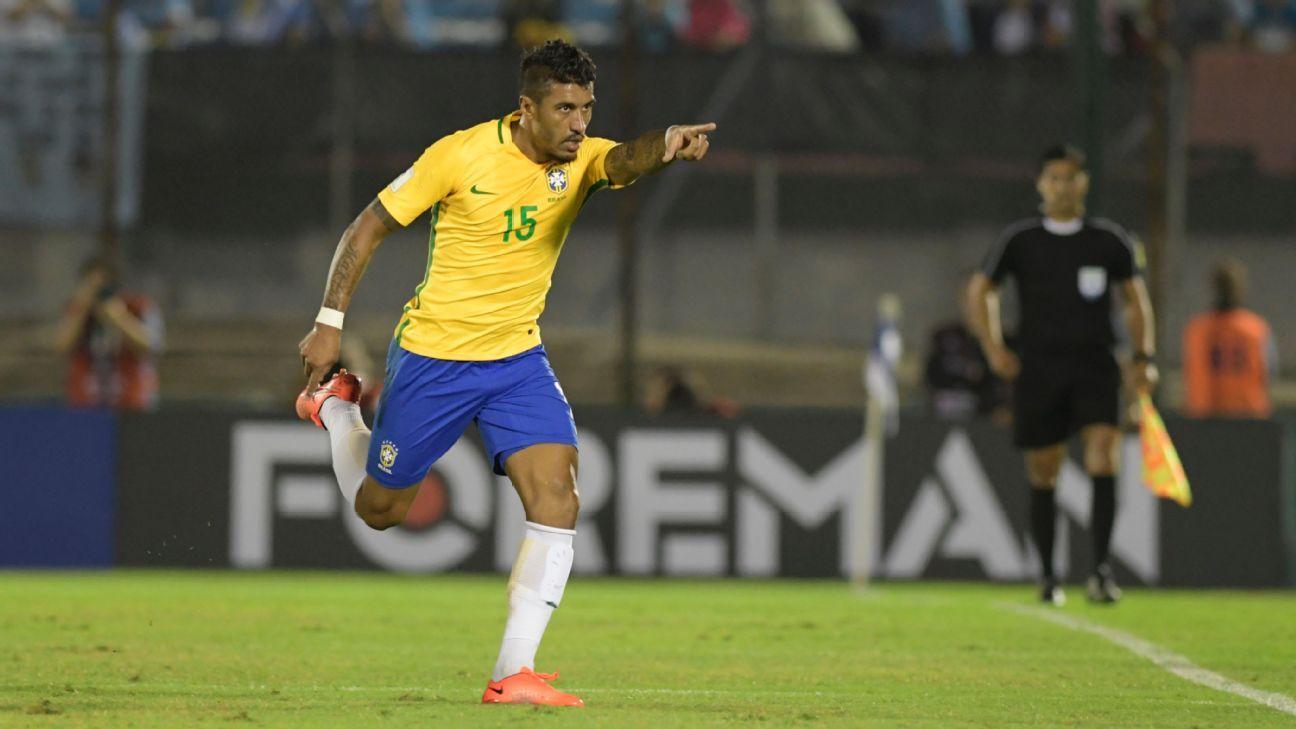 Paulinho celeb vs Uruguay 170323