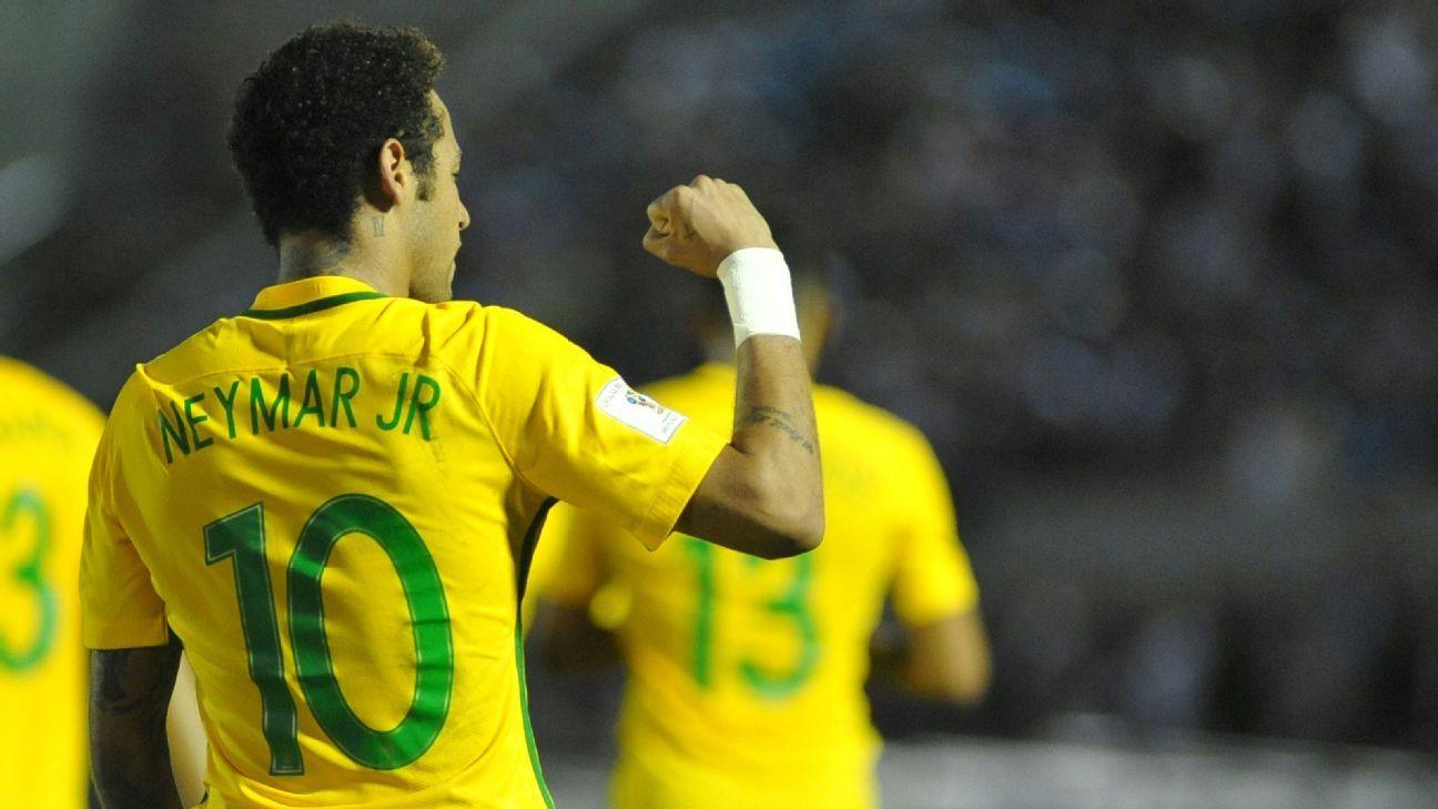 Neymar celeb vs Uruguay 170323