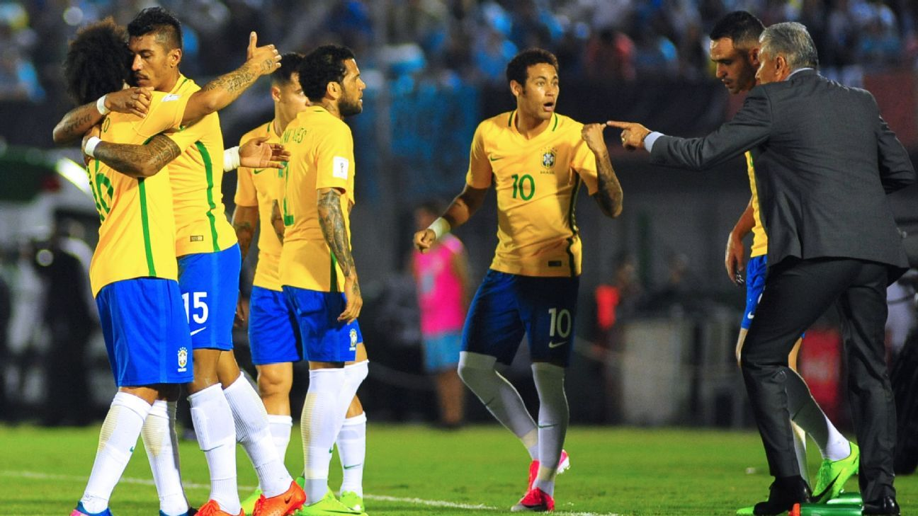 Brazil celebrated an unlikely 4-1 victory at Uruguay on Thursday.