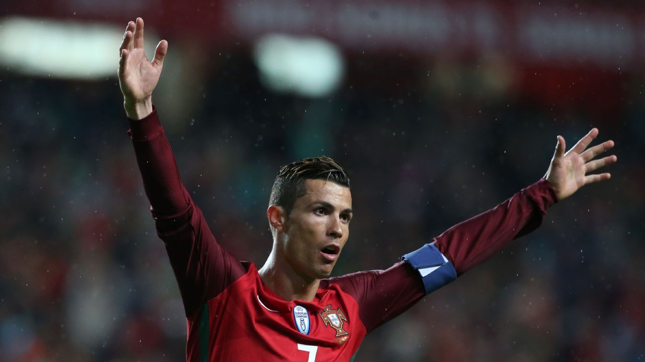 Cristiano Ronaldo scored twice for Portugal.