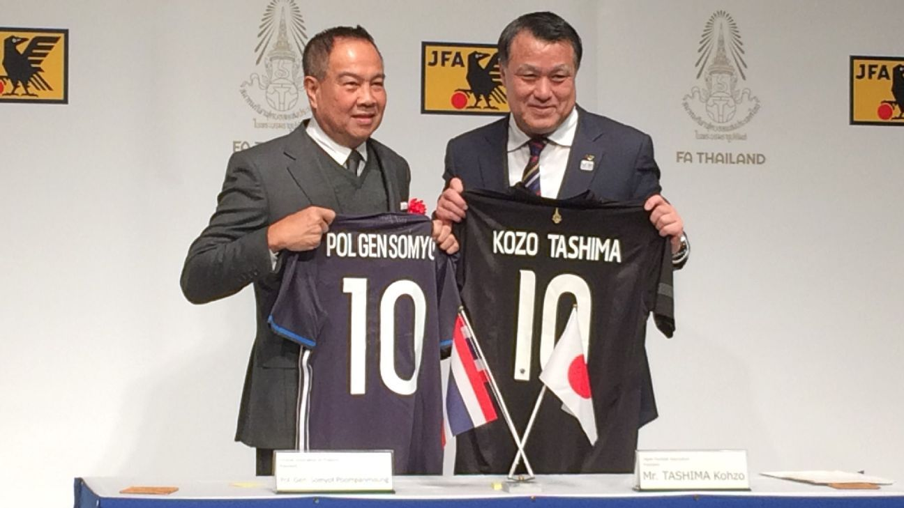 Thailand signs football MOU with Japan