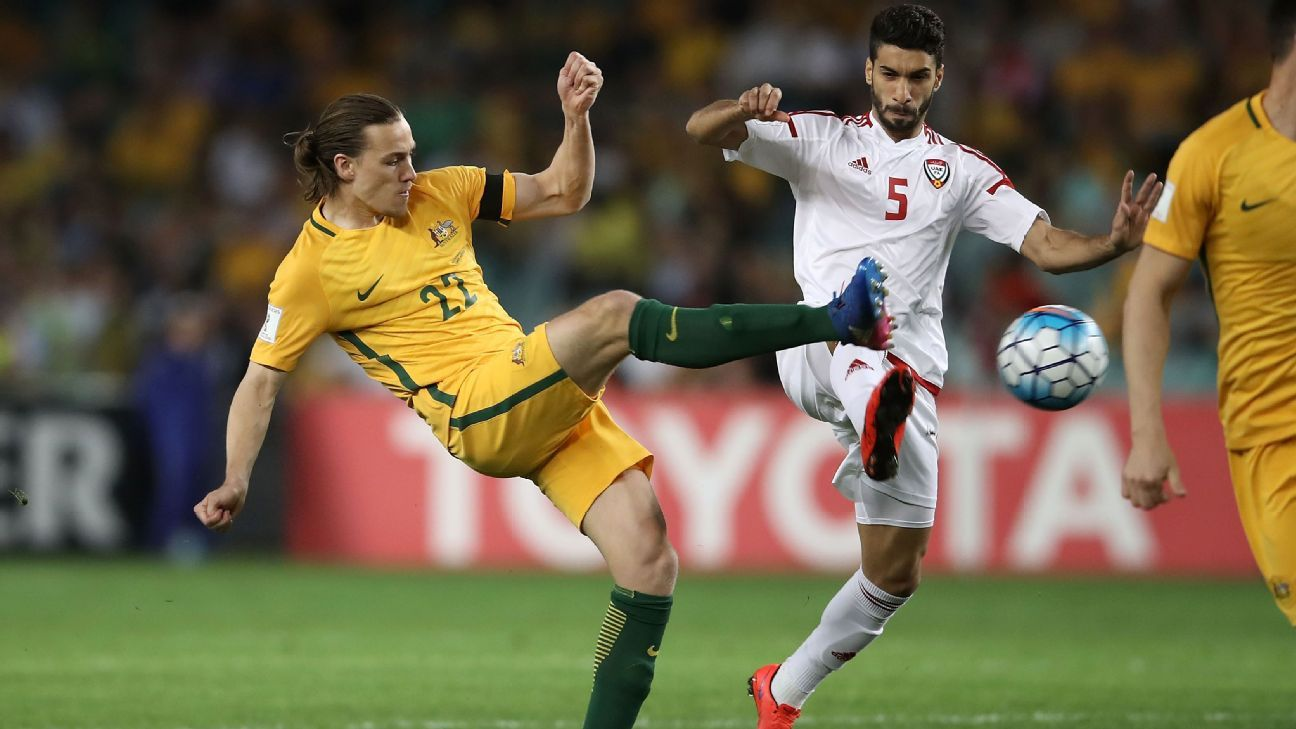 Australian midfielder Jackson Irvine opened the scoring for the home side.