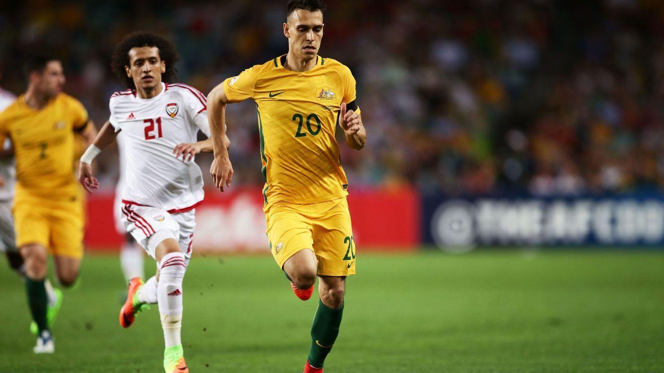 Australian midfielder Trent Sainsbury