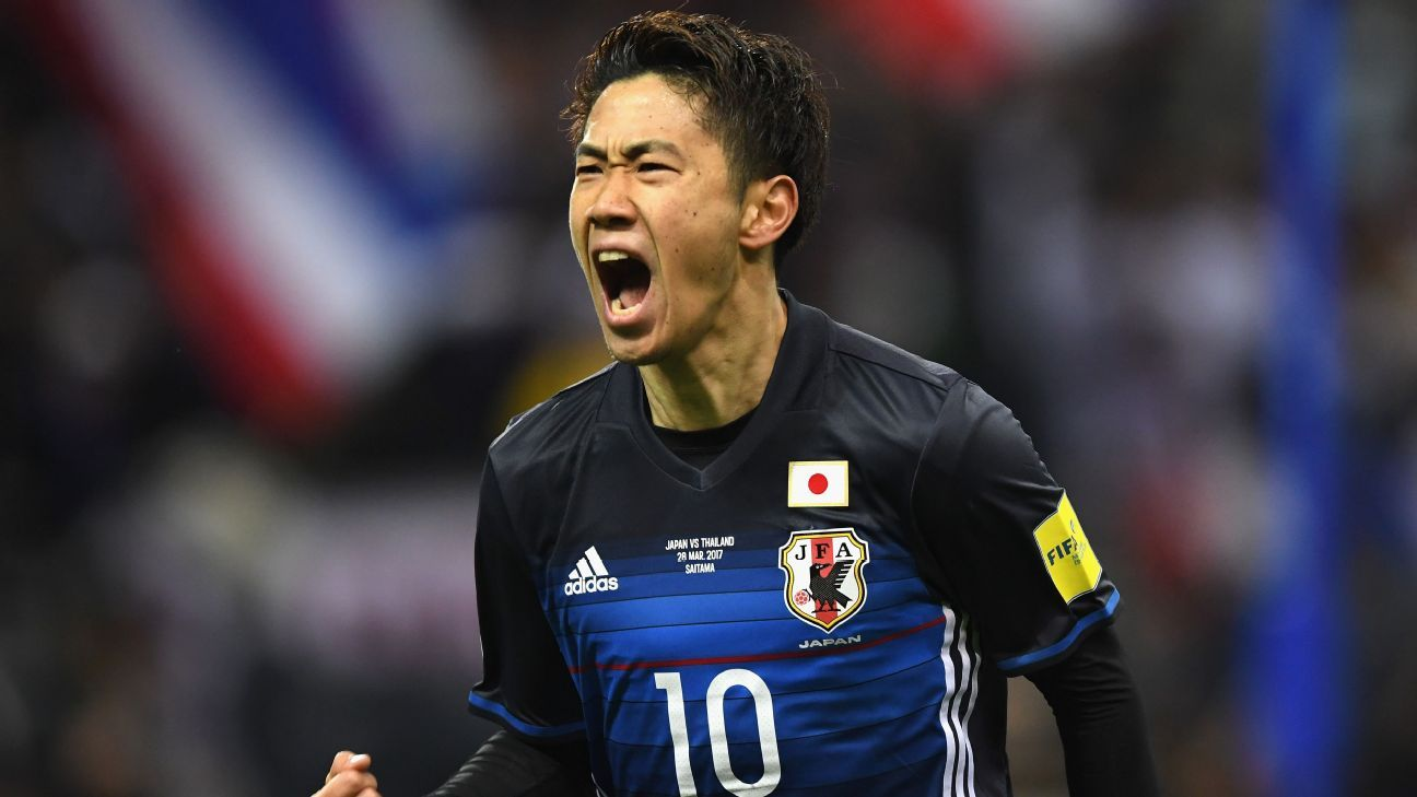 Japan rout Thailand 4-0 to go top of Group B in AFC World Cup qualifiers