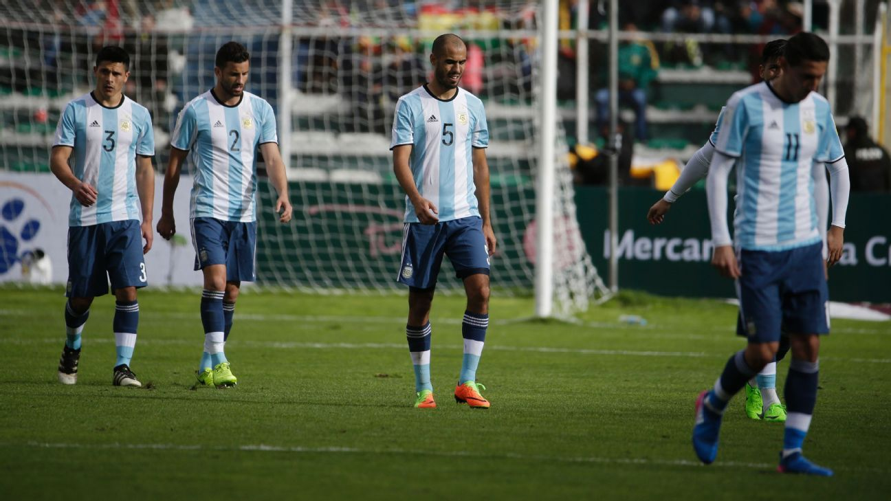 Without Lionel Messi, Argentina have won just a single game from eight in their qualifying campaign.