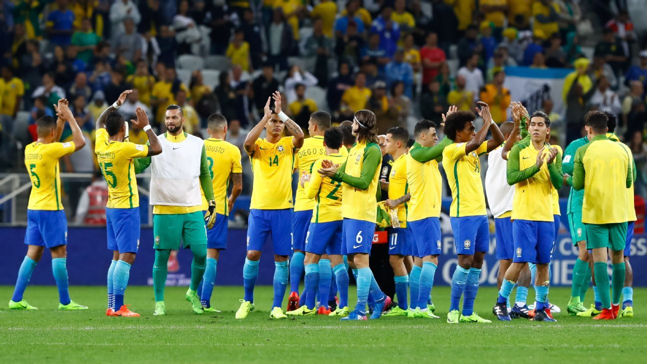 Brazil's win on Tuesday means that they can't finish below fourth in the CONMEBOL World Cup qualifying table.