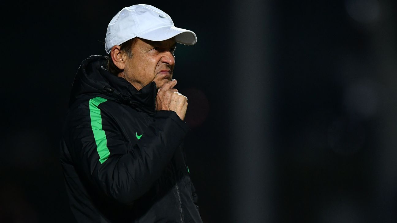 Nigeria coach Gernot Rohr has much to ponder.