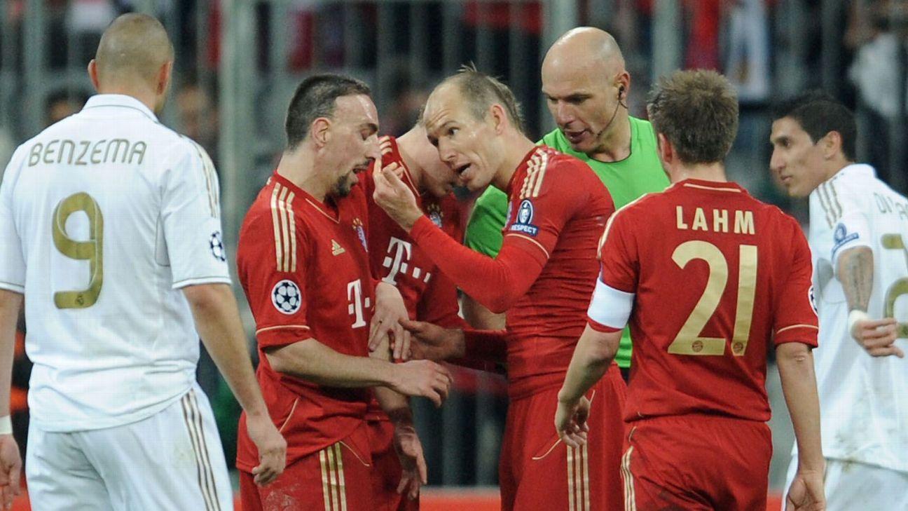 Arjen Robben Franck Ribery fight