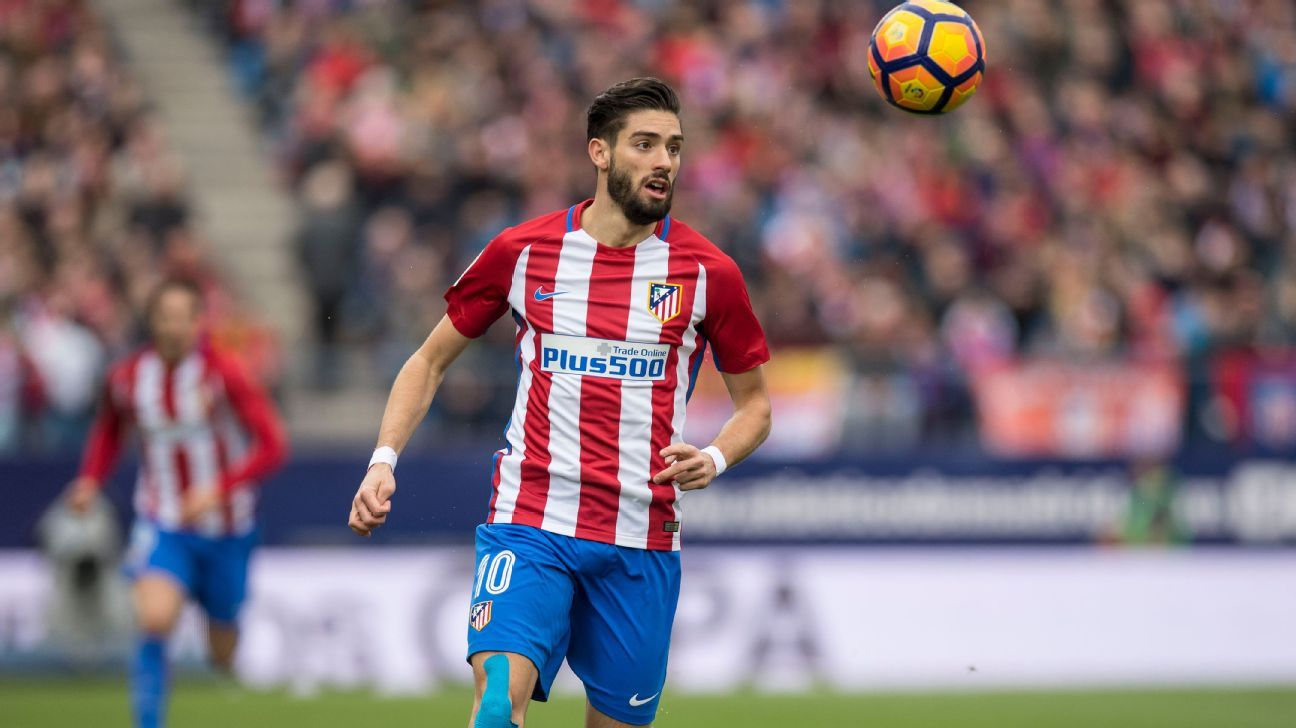 Atletico Madrid s Yannick Carrasco suffers injury Diego Simeone